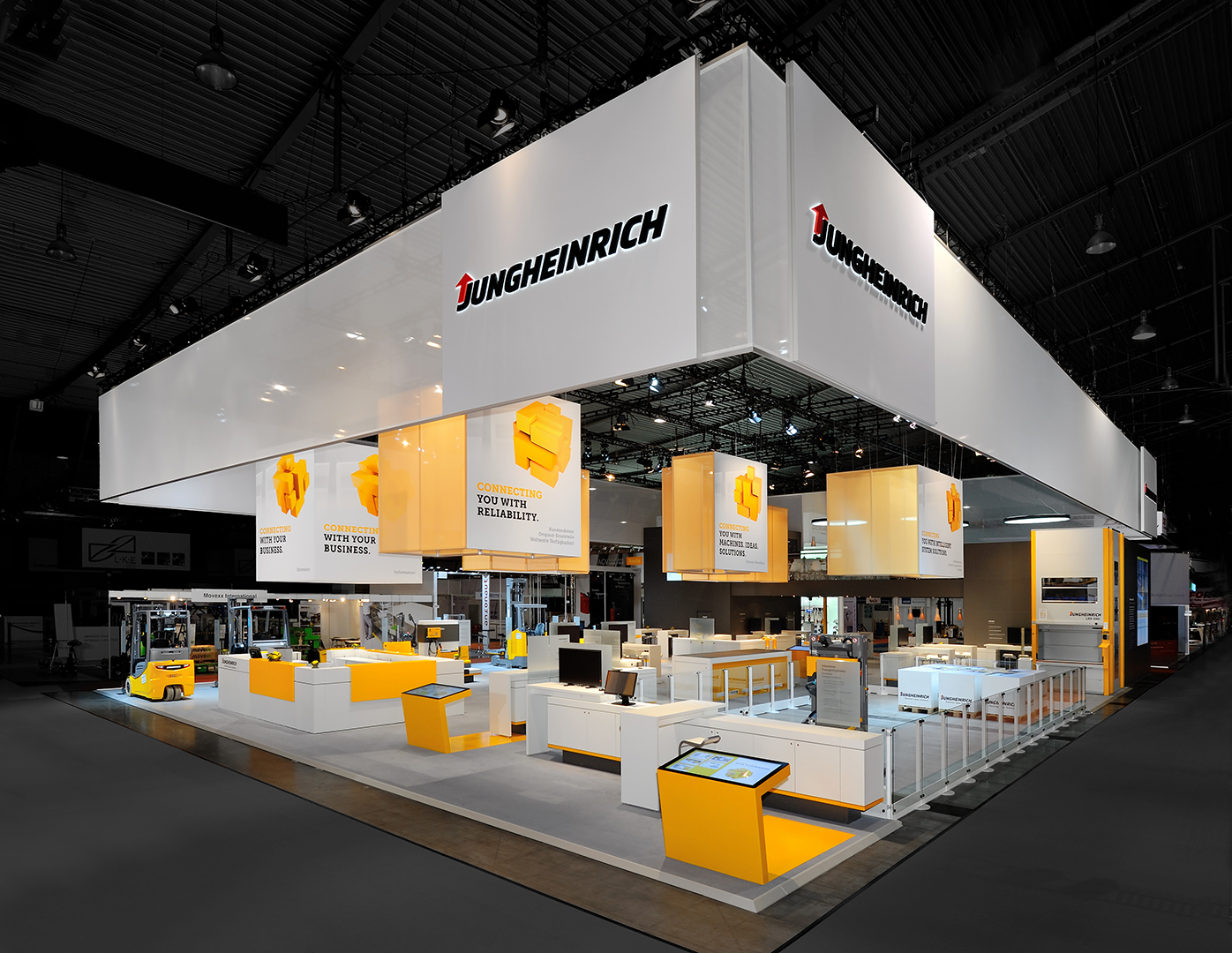 Exhibition Stand Photos : Jungheinrich largest exhibitor at logimat newsroom
